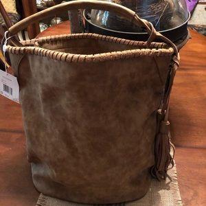 🍁🍁Shiraleah Chicago HUGE Hobo Vegan Leather Bag